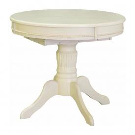 Стіл обідній Меблі-Сервіс Версаль розкладний 890х750х890/1210 мм венге білий