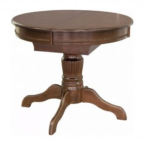 Стол обеденный Мебель-Сервис Версаль раскладной 890х750х890/1210 мм орех