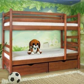Двухъярусная кровать Мебель-Сервис Кенгуру 1600х2000х800 мм яблоня