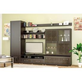 Гостиная Мебель-Сервис Кайман 1 3000х550х2130 мм венге темный