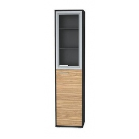 Пенал-витрина Мебель-Сервис Аманда 517х2170х390 мм зебрано