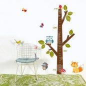 Интерьерная наклейка Uzuri Дерево-ростомер 930x1485 мм