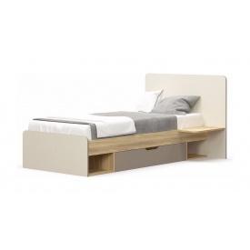 Кровать Мебель-Сервис 950х1200х2032 мм блеквуд ячменный/шампань/капучино