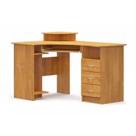 Письменный стол Мебель-Сервис угловой МДФ 750х1300х900 мм ольха