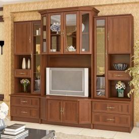Гостиная Мебель-Сервис Эко 2 2065х2300х552 мм орех
