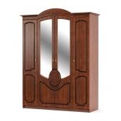 Шкаф Мебель-Сервис Барокко 4Д 1790х2250х600 мм вишня
