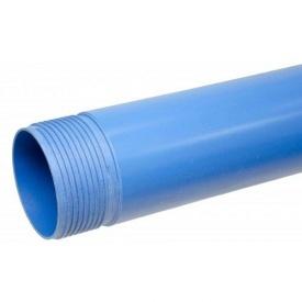 Труба обсадная нПВХ для скважины 6 мм 125 мм 3 м синяя
