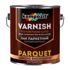 Лак паркетний поліуретановий Kompozit шовковисто-матовий 0,7 л