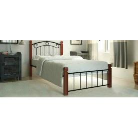 Металеве ліжко Метал-Дизайн Монро міні на дерев'яних ніжках 1900х800 мм