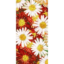 Декоративне панно зі скляної мозаїки Ромашки 1000х2000 мм