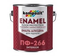 Эмаль для пола Kompozit ПФ-266 0,9 кг желто-коричневый