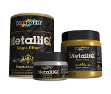 Эмаль акриловая Kompozit METALLIQ металлик 0,1 кг черный жемчуг