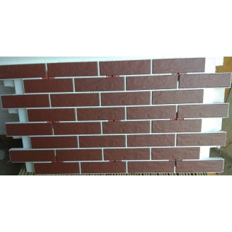 Термопанель фасадная клинкерная Cerrad Burgund Rust 1000х600 мм