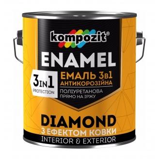 Эмаль антикоррозионная Kompozit DIAMOND 3в1 0,65 л серебристый