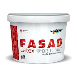 Фасадная краска Kompozit FACADE LATEX матовая 7 л белый