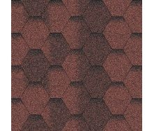 Битумная черепица Aquaizol Мозаика 320х1000 мм красный эко