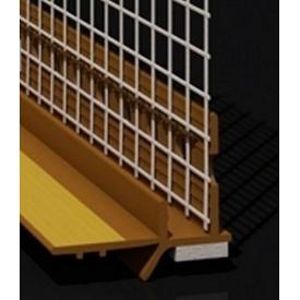 Профиль примыкания с манжетой и сеткой 6 мм золотой дуб