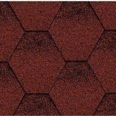 Битумная черепица Kerabit K Тройка красно-черный