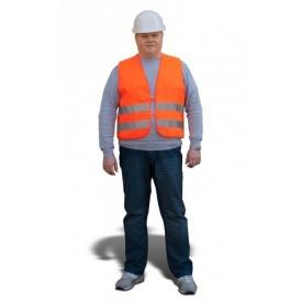 Жилет сигнальный ТК-Спецодяг со светоотражающими полосками XL