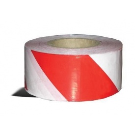 Лента сигнальная ТК-Спецодяг 7 см красно-белая