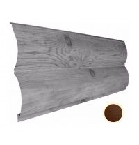 Металлический сайдинг Suntile Блок-Хаус Бревно глянец  361/335 мм дуб венге ОМО 5