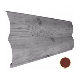 Металевий сайдинг Suntile Блок-Хаус Колода матовий 361/335 мм червоний окис