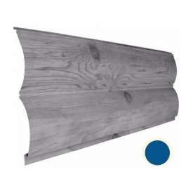 Металевий сайдинг Suntile Блок-Хаус Колода матовий 361/335 мм синій капрі