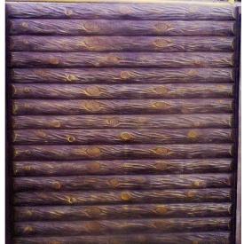Плита еврозабора Бревно односторонняя 2х0,5 м