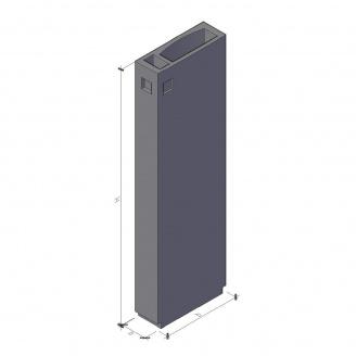 Вентиляционный блок ВБ 4-28-1 ТМ «Бетон от Ковальской» 910х400х2780 мм