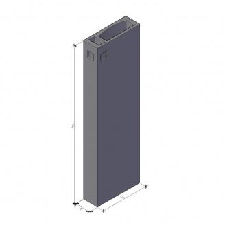 Вентиляционный блок ВБ 3-33-0 ТМ «Бетон от Ковальской» 910х300х3280 мм