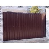 Ворота відкатні з профнастилом 1,8х4 м