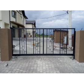 Ворота откатные с сеткой 1,8х4 м
