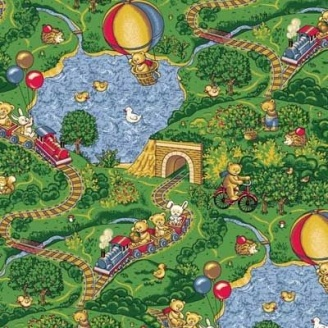 Ковер Витебские ковры Малиновка детский 6 мм зеленый