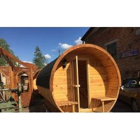 Лазня-бочка дерев'яна кругла 2,4x4,5 м