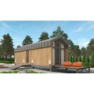 Баня из СИП панелей по проекту Mobile Sauna 20