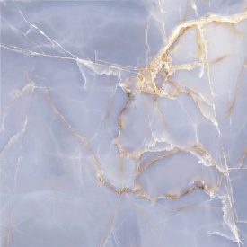 Плитка Golden Tile Onyx Blue 604х604 мм блакитний