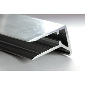 Алюминиевый профиль торцевой F-образный АТПФ 8 мм