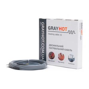 Кабель нагревательный GrayHot двухжильный 4,5х5,5 мм 102 м