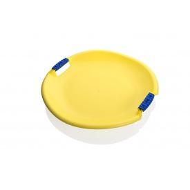 Санки-тарелка Plastkon Торнадо супер 54х8 см желтые