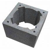 Блок дымоходный керамзитобетонный серый