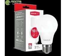 Светодиодная лампа MAXUS A60 10 Вт яркий свет 220 В E27