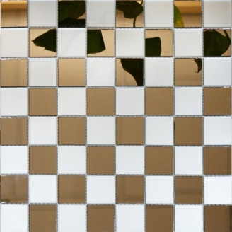 Мозаика зеркальная на сетке VIVACER ZM-04, 37x37 мм