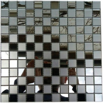 Мозаика зеркальная на сетке VIVACER Zmix-06, 25x25 мм