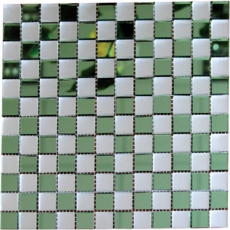 Мозаика зеркальная на сетке VIVACER Zmix-02, 20x20 мм