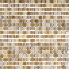 Мозаика мрамор стекло VIVACER 1,5х1,5 CS07, 30х30 cм