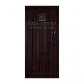 Броньовані двері Титан 880х2040 мм темний горіх