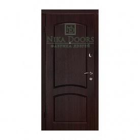Броньовані двері Капрі-В 960х2040 мм темний горіх