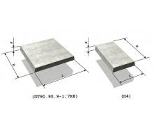 Тротуарная плита 6П5 1х0,5х0,045 м