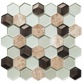 Мозаїка мармур скло VIVACER SB06, 4,8х5,5 см