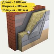 Минеральная вата Технофас ЭФФЕКТ 135 кг/м3 600x1200x100 мм 1,44 м2